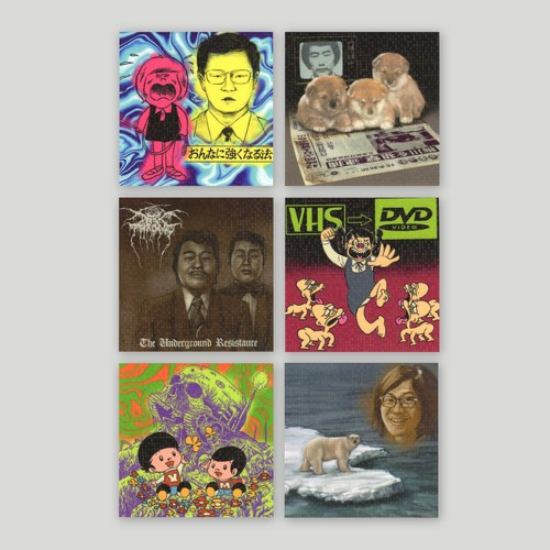 Ken Hamaguchi/Mini Sticker set (6 stickers)