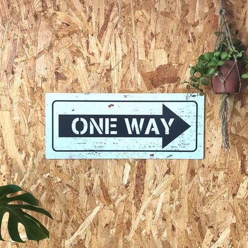 トラフィックサインボード 「ONE WAY」白