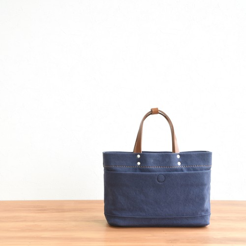 CANVAS MAGAZINE TOTE SS / NAVY