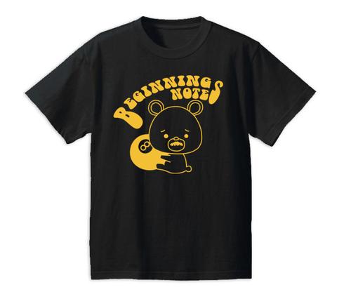 BEGINNING NOTES / BIGビギクマちゃんTシャツ黒×黄