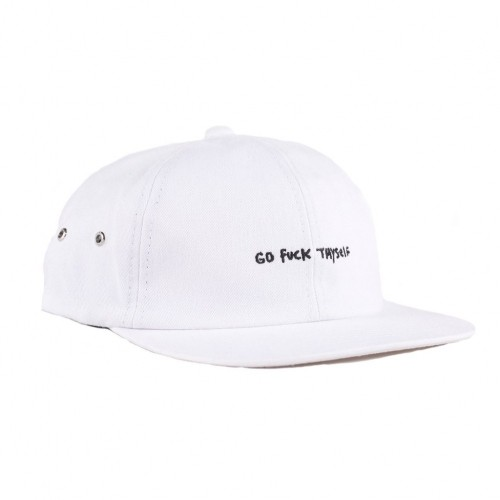 RIPNDIP リップンディップ GO FUCK THYSELF SIX PANEL (WHITE)