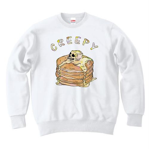 [カジュアルスウェット] Creepy pancake / white