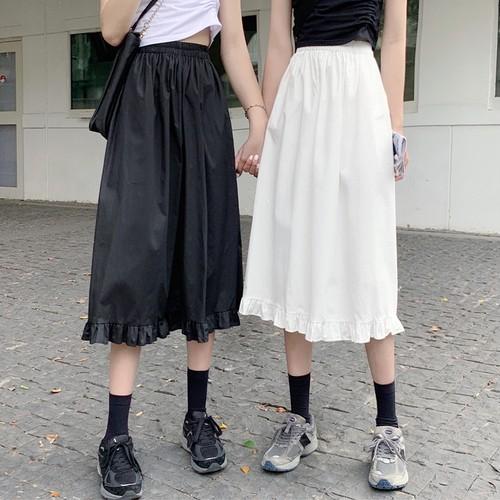 2色/裾フリルギャザースカート ・15460