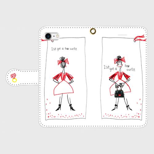 りぼんgirlip手帳型(小・中)受注生産¥3600