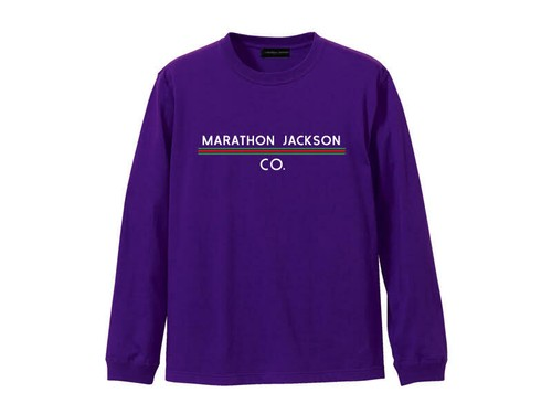 LONG SLEEVE T-SHIRT M319202-PURPLE / ロンT パープル PURPLE  / MARATHON JACKSON マラソン ジャクソン
