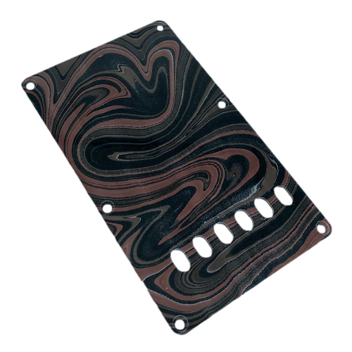 VARIOUS MARBLEIZED PICK GUARD SERIES - ST-type  Only One Design - ギター用マーブルバックプレート stba1-3