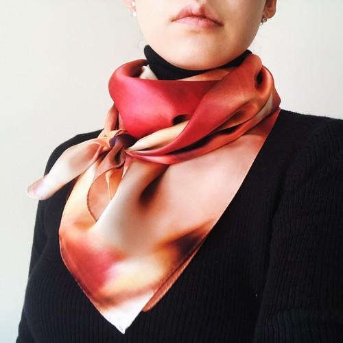 La スカーフ セピアに染まる日々 90cm