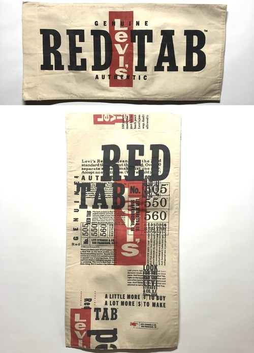 Levi's RED TAB Vintage Banner リーバイスレッド ヴィンテージ バナー アドバタイジング 501XX 鬼レア