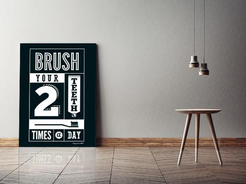 Brush キャンバスプリント(B2サイズ・木製パネル貼り)