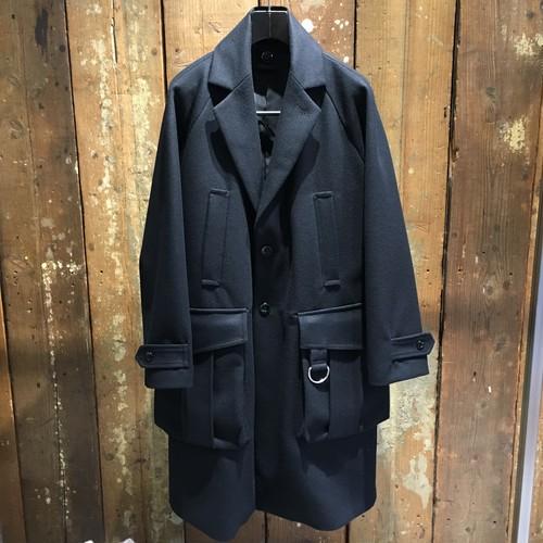 【DIET BUTCHER SLIM SKIN】Raglan sleeve light melton coat