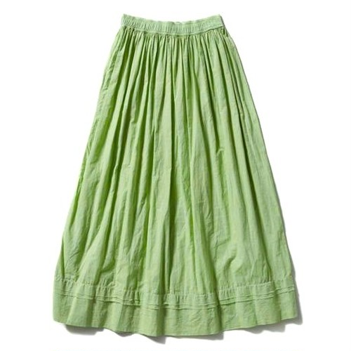 【FILL THE BILL】《WOMENS》GATHER LONG SKIRT - MINT GREEN