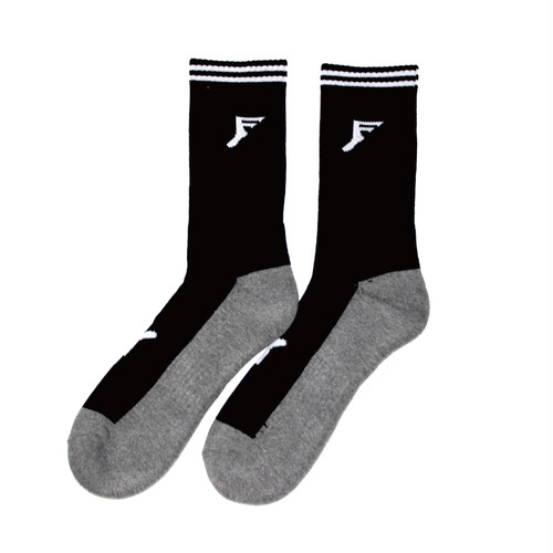 FP BAMBOO PERFORMACE CREW LENGTH SOCKS BLACK/CHARCOAL サイズ6~9→24㎝〜27㎝