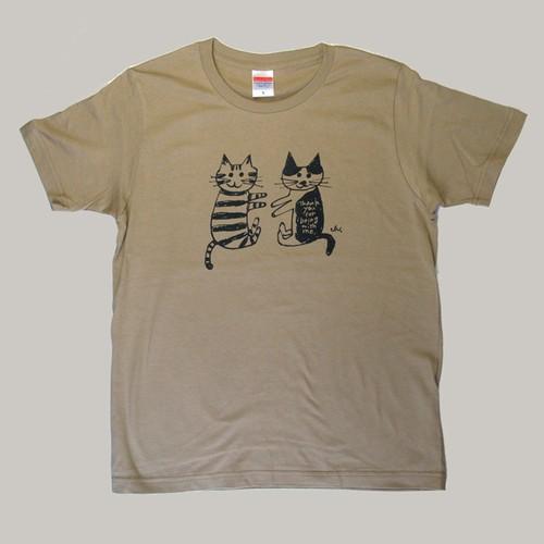 NECOYA Tシャツ「おちゃくり」   メンズ S[サンドカーキ] 送料無料中!