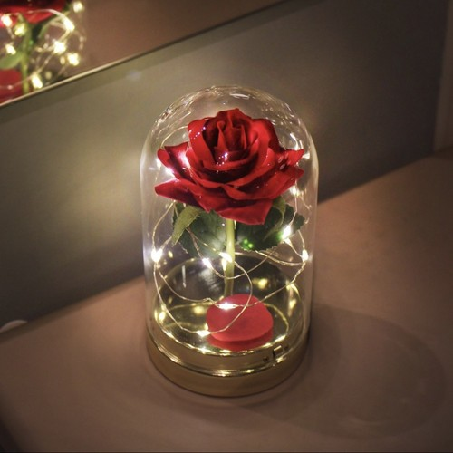 twinkle rose dome LED light 2colors / ローズ フラワー ライト 韓国雑貨