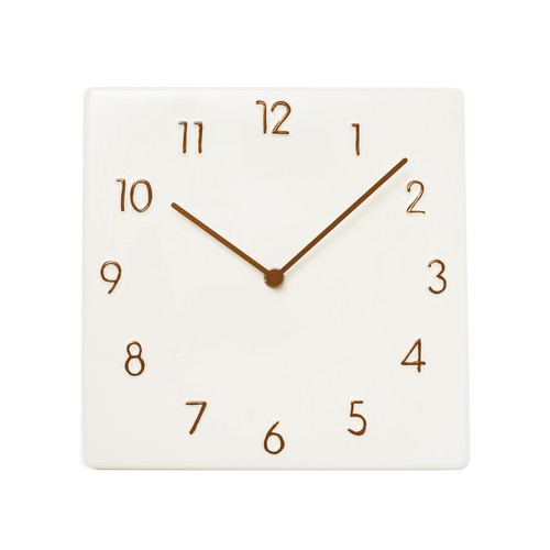 CERAMIC WALL CLOCK【BROWN】