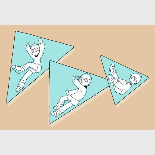 ポストカード(三角)