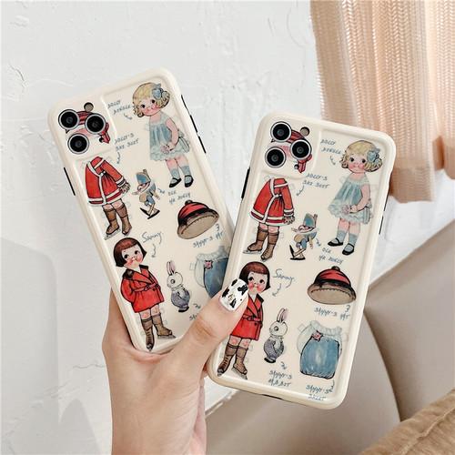 iphoneケース スマホケース 韓国 iphone11 おしゃれ レトロ 女の子