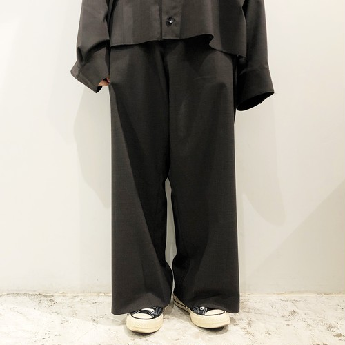 my beautiful landlet 【マイビューティフルランドレット】 Worsted wide straight pants