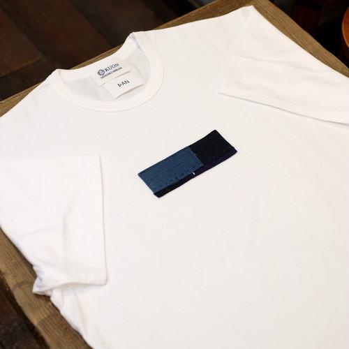 Lサイズ KUON(クオン)×DAN アップサイクル襤褸・胸パッチ半袖Tシャツ