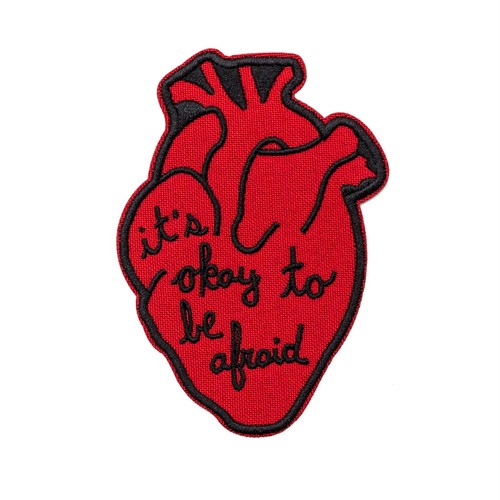 "Pretty Bad Co""It's Okay To Be Afraid Anatomical Heart Patch"""