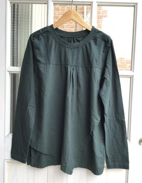 綿100%☆異素材ドッキングデザインT シャツ【B9104】