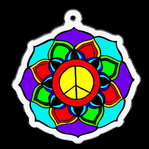 peace mandala アクリルキーホルダー