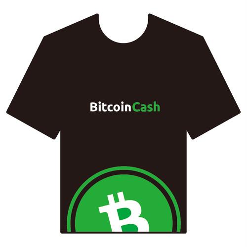 BitcoinCashTシャツ シリーズA 黒 COFA(A4-006)