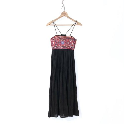 Vintage Embroidered India Cotton Cami Dress / 刺繍キャミソールワンピース