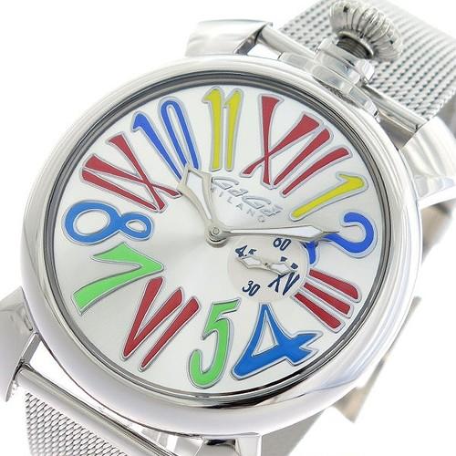 ガガミラノ GAGA MILANO SLIM 腕時計 5080.1 シルバー シルバー