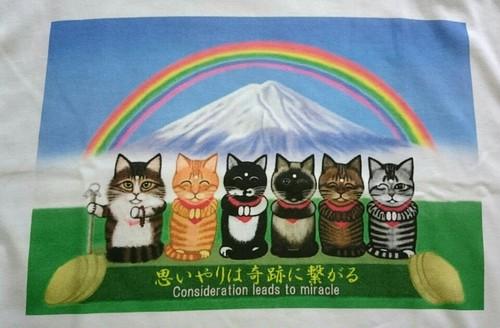 猫六地蔵 Tシャツ