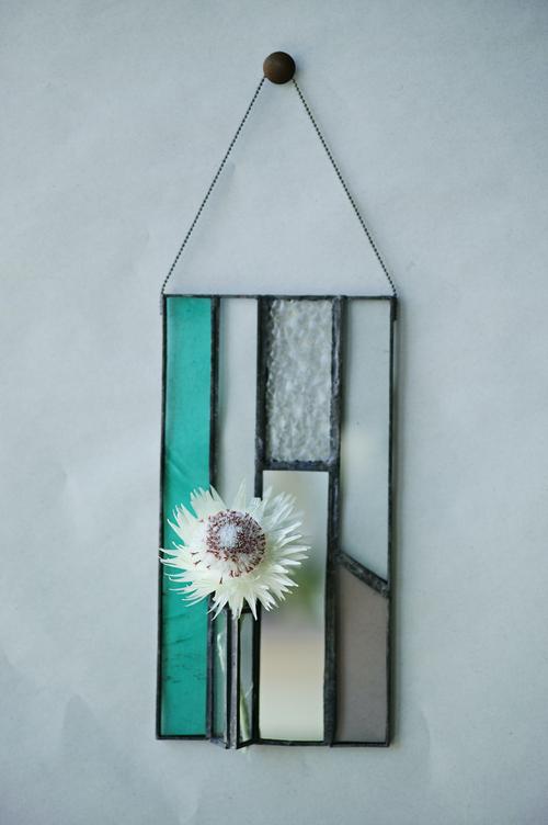 ◆抽選◆ green / ケープスノー【patchwork mirror 花器融合型】
