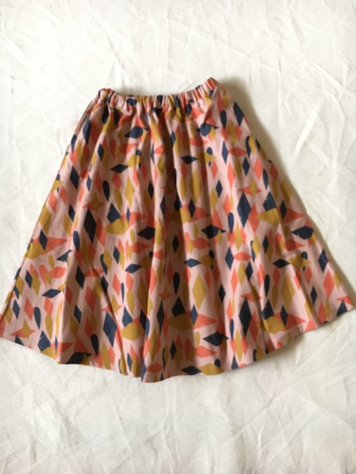 30%off  circus print flannel long skirt