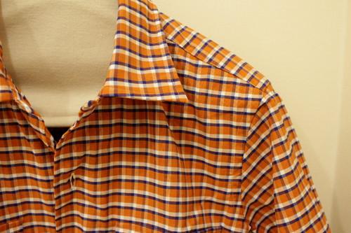 CADETTO ORIGINALS Open-collared Short Sleeve Shirts Retro-check