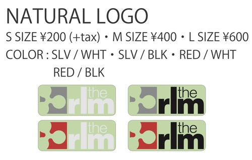 NATURAL LOGO STICKER S SIZE