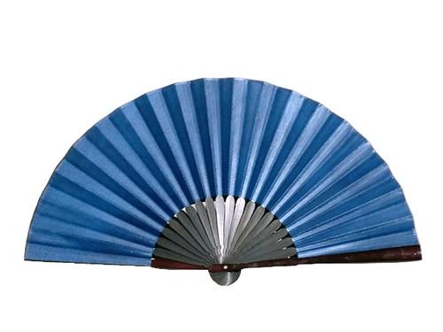 武州壺藍染鹿革製京扇子(無地)