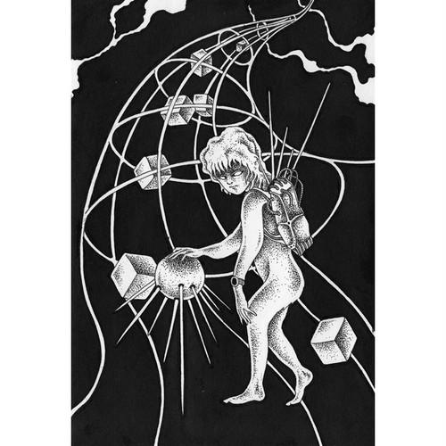 手描きイラスト「ペン画」(インクドローイング・モノクロ作品)制作