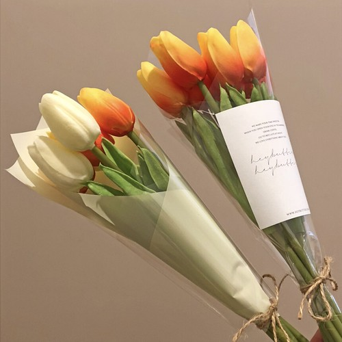 artificial flower bouquet - tulip 4colors / チューリップ 造花 花束 リアル 撮影小物 オブジェ 韓国 インテリア 雑貨
