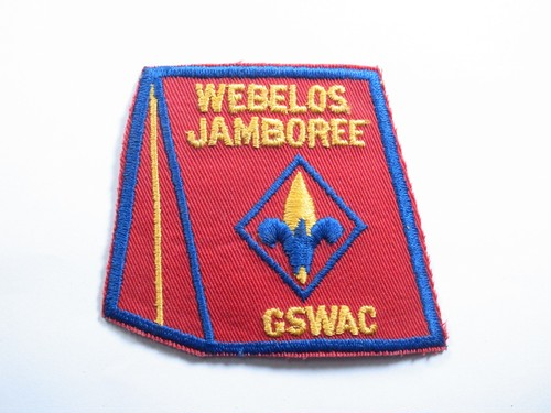 "PATCH""WEBELOS JAMBOREE GSWAC"""