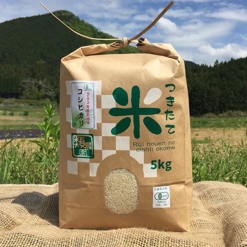 【新米!】【有機栽培米】コシヒカリ 5kg 日本一の清流・宮川の恵み☆