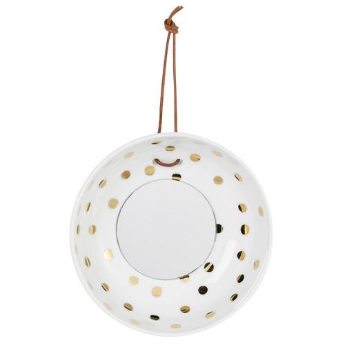 豆皿のような壁掛けミラー Dots  #728