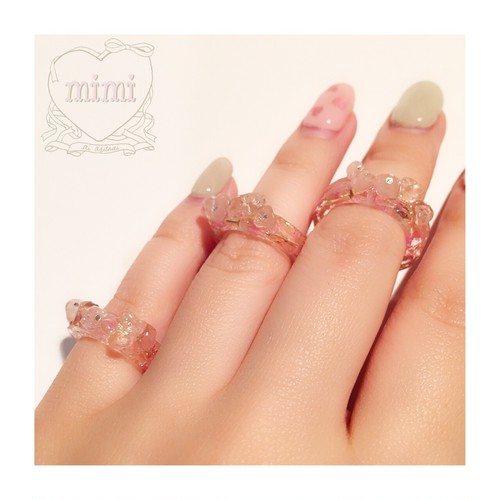 jelly ring(鉱石pink)
