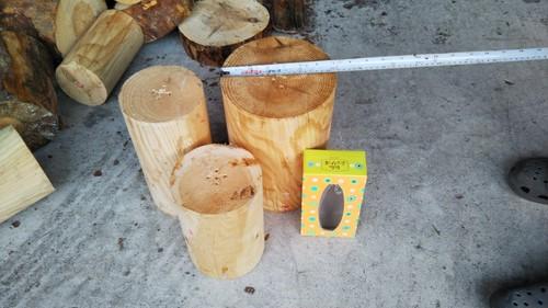 まん丸木材3本セット