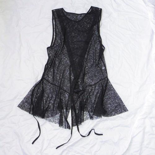 Cross Layered Pullover - Black