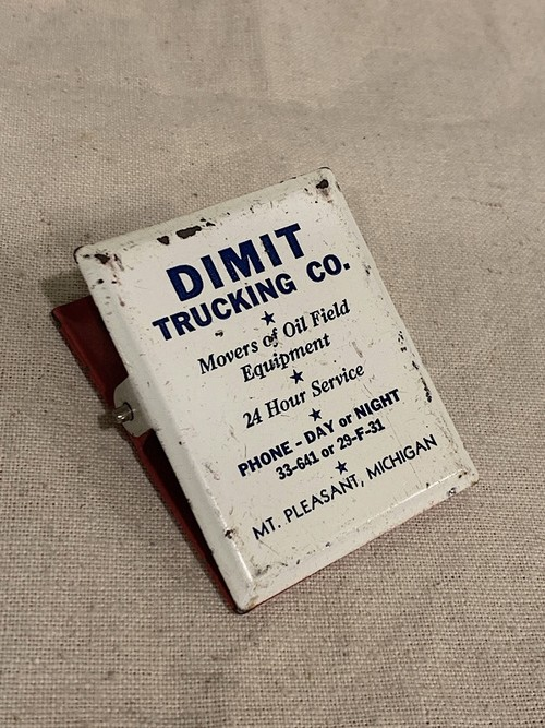"ADVERTISING MEMO CLIP "" DIMIT TRUCKING CO. """