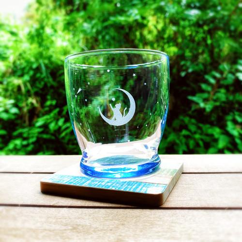 月 と 猫 の グラス グラス タンブラー 280ml