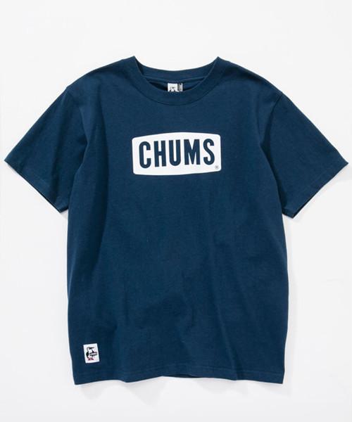 CHUMS(チャムス)Logo T-Shirt (ロゴTシャツ) CH01-1324 ネイビー