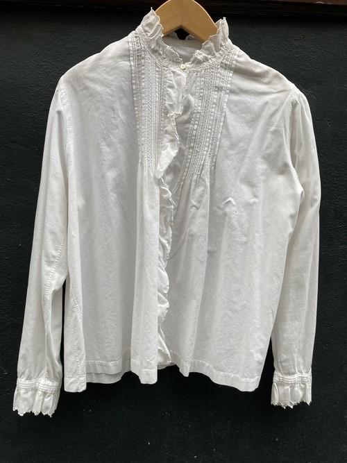 France 1920~40's Cotton Blouse #02