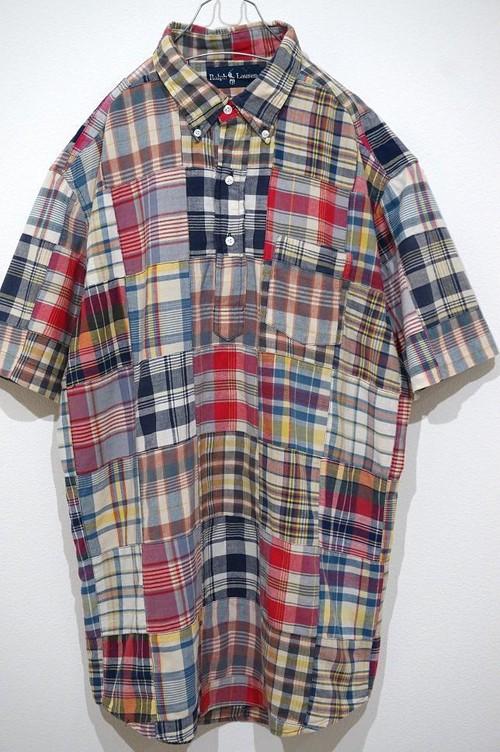 1990's Ralph Lauren インディアコットン パッチワークS/Sプルオーバーシャツ 表記(L) ラルフローレン