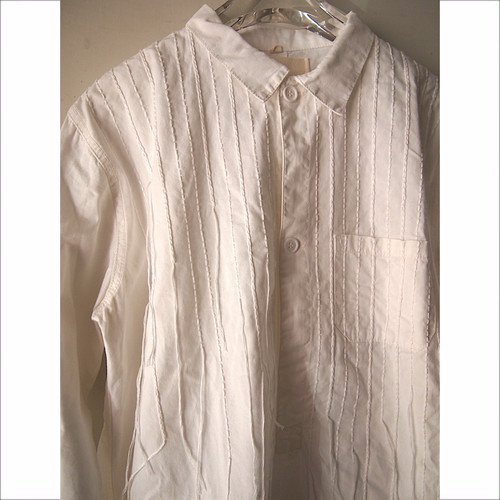 【sandglass】embroidery shirt(line)/ 【サンドグラス】エンブロイダリー(ライン)