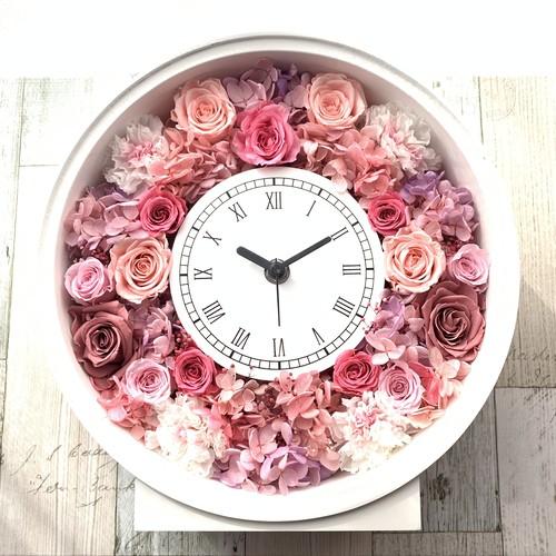 ◆オーダーメイド彫刻◆受注制作◆ 花時計 ピンクAS